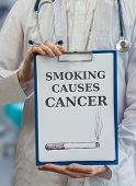 picture of causes cancer  - Doctor is warning against cancer caused by smoking cigarettes - JPG