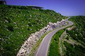 stock photo of armenia  - Photo of the mountain road - JPG