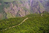image of armenia  - Photo of the mountain serpentine road - JPG