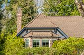 pic of nice house  - The roof of the house with nice window - JPG