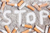 picture of butt  - Cigarette butts and ashes - JPG