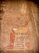 pic of hatshepsut  - Detail of colored reliefs at the Temple of Hatshepsut at Deir el - JPG