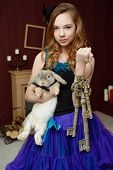 pic of alice wonderland  - Young girl at the image of Alice in Wonderland - JPG