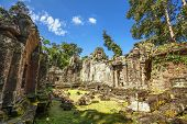 pic of buddhist  - Ancient buddhist khmer temple in Angkor Wat complex - JPG