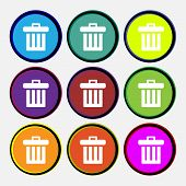 stock photo of recycling bin  - Recycle bin icon sign - JPG