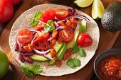 foto of kidney beans  - vegan taco with vegetable - JPG