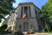 picture of justice  - Washington DC - Department of Justice Building  - JPG