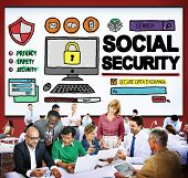 stock photo of social-security  - Social Security Welfare Retirement Payment Concept - JPG
