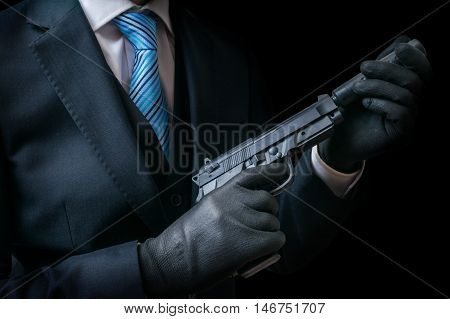 Mafia Man Or Racketeer Holds