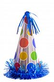 stock photo of party hats  - Birthday party hats on a white background - JPG