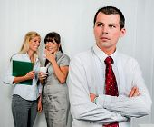 stock photo of stop bully  - Bullying in the workplace an office - JPG