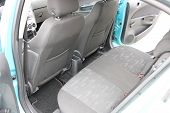 Car Interior. Rear Seats Of A Car Interior. Auto Interior With Back Seats. poster
