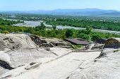 View of the ancient rock city of Uplistsikhe (Upliscyche), Georgia