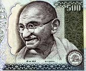 foto of mahatma gandhi  - Close - JPG