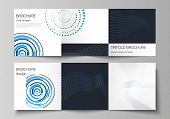 The Minimal Vector Editable Layout Of Two Square Format Covers Design Templates With Simple Geometri poster