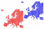 Sketch Europe Letter Text Continent, Europe Word - In The Shape Of The Continent, Map Of Continent E poster