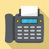 Office Fax Icon. Flat Illustration Of Office Fax Vector Icon For Web Design poster