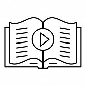 Audio Book Play Icon. Outline Illustration Of Audio Book Play Vector Icon For Web Design Isolated On poster