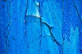 Blue Bright Background  Of Old Paint. Old Wooden Background With Remains Of Pieces Of Scraps Of Old  poster