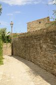 Stone Footpath In The Medieval Village Of Peratallada, Located In The Middle Of The Emporda Region O poster