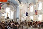 NEW YORK CITY, USA - JUNE 11: St. Paul's Chapel is an Episcopal chapel in lower Manhattan in New Yor