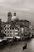 Venice grand canal view with historical buildings. Italy. poster