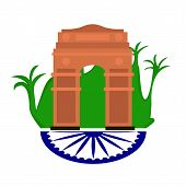 Famous Place In India. India Gate- Vector poster