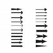 Arrows Collection. Black Arrow Direction Signs Forward And Down For Navigation Or Web Download Butto poster
