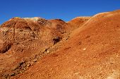 Natural Red Mountains In Spring In Kyzyl-chin Valley, Also Called As Mars Valley. Altai, Siberia, Ru poster