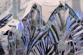 Ice Texture. Abstract Photo. The Abstract Background Of Ice Structure. Ice Sculpture Close Up. Blue poster