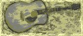 picture of bluegrass  - This cool design shows a yellow tinted guitar with a nice patina - JPG