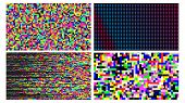 Pixel Noise Of Channel Grain Screen Set Vector poster