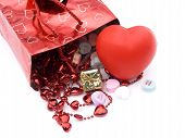 pic of xoxo  - isolated gift bag and presents