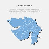 India Country Map Gujarat State Template Concept poster