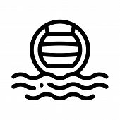 Water Volleyball Icon Vector. Outline Water Volleyball Sign. Isolated Contour Symbol Illustration poster