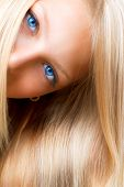 image of hair streaks  - Blond Hair - JPG