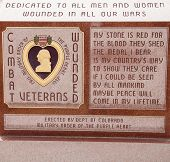 Red Marble Purple Heart Memorial
