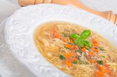 Vegetables Noodle Soup