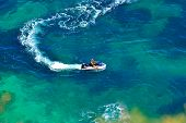 picture of jet-ski  - up view of sea water with ski jet speeding - JPG