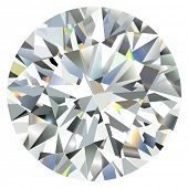 Diamant, isolated on white