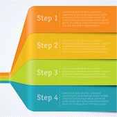 pic of paper cut out  - Rainbow chart template for infographics - JPG