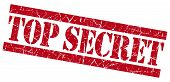 image of top-secret  - Top secret red grunge stamp on white background - JPG
