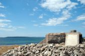 picture of emplacements  - A WW2 Pillbox situated on the swedish coastline at Torekov - JPG
