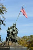 WASHINGTON, DC - NOV 12: Iwo Jima Memorial in Washington, DC on November 12, 2013. The Memorial hono