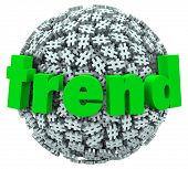 foto of hashtag  - Trend Word on Hashtag Tag Sphere Trending Topics - JPG