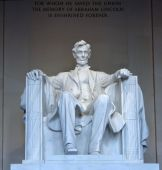 foto of abraham lincoln memorial  - Statue of Abraham Lincoln in the Lincoln Memorial Washington DC