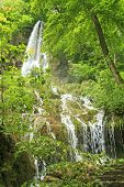 image of swabian  - The waterfall of Bad Urach Swabian Alb Baden - JPG