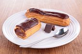 stock photo of eclairs  - chocolate eclair - JPG