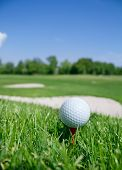 pic of golf bag  - Golf ball in grass - JPG