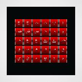 pic of arabic numerals  - Arabic alphabet  typography design for all kind use - JPG